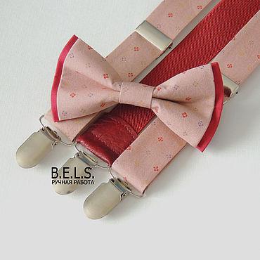 Аксессуары ручной работы. Ярмарка Мастеров - ручная работа Бабочка + помощи бежево-розового цвета. Handmade.