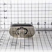 Фурнитура для сумок ручной работы. Ярмарка Мастеров - ручная работа Замок поворотный 0025Л никель. Handmade.