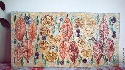 Картины цветов ручной работы. Ярмарка Мастеров - ручная работа. Купить Ботанический сад. Handmade. Разноцветный, панно настенное, картина