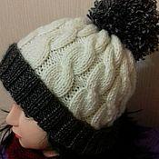 Шапка шерстяная женская зимняя шапка