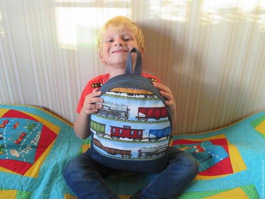 Детские аксессуары ручной работы. Ярмарка Мастеров - ручная работа. Купить Рюкзак детский. Handmade. Синий, рюкзак на каждый день