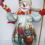 Русский стиль ручной работы. Ярмарка Мастеров - ручная работа снеговик. Handmade.