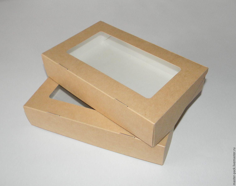 Упаковка ручной работы. Ярмарка Мастеров - ручная работа. Купить Коробка  крафт, с окном ... c35e5bcccba