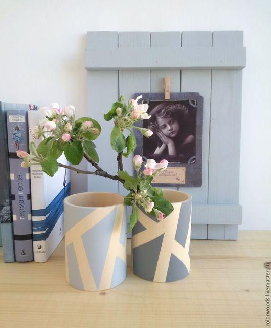 стакан из дерева, ваза, рамка, рама