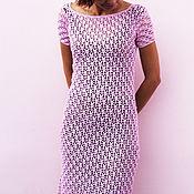 Одежда handmade. Livemaster - original item Copy of Crochet cotton dress Miss for stylish women. Handmade.