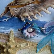 """Украшения ручной работы. Ярмарка Мастеров - ручная работа Кулон - """"Подарок голубой лагуны"""". Handmade."""