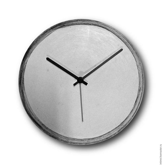 Часы для дома ручной работы. Ярмарка Мастеров - ручная работа. Купить Белый гипс с черной полосой. Handmade. Белый