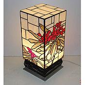 """Для дома и интерьера ручной работы. Ярмарка Мастеров - ручная работа Витраж светильник """"Рододендрон (Rhododendron)"""". Handmade."""