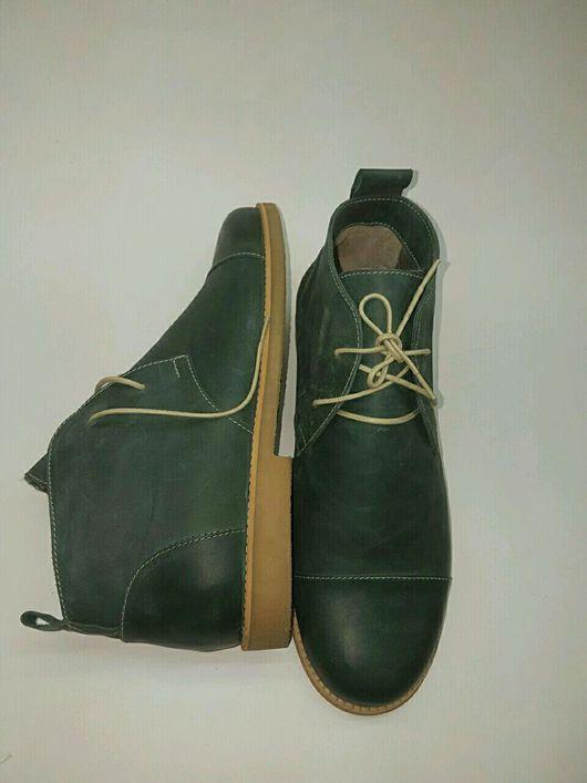 Обувь ручной работы. Ярмарка Мастеров - ручная работа. Купить Мужские ботинки.. Handmade. Дезерты, подошва, натуральная кожа