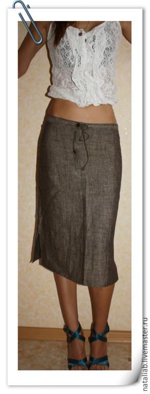 """Юбки ручной работы. Ярмарка Мастеров - ручная работа. Купить Льняная юбка """"Хамелеон"""". Handmade. Юбка летняя, льняная юбка"""