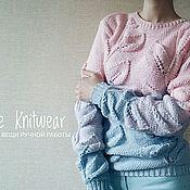Одежда ручной работы. Ярмарка Мастеров - ручная работа Свитер Листья, вязаный свитер, женский свитер. Handmade.