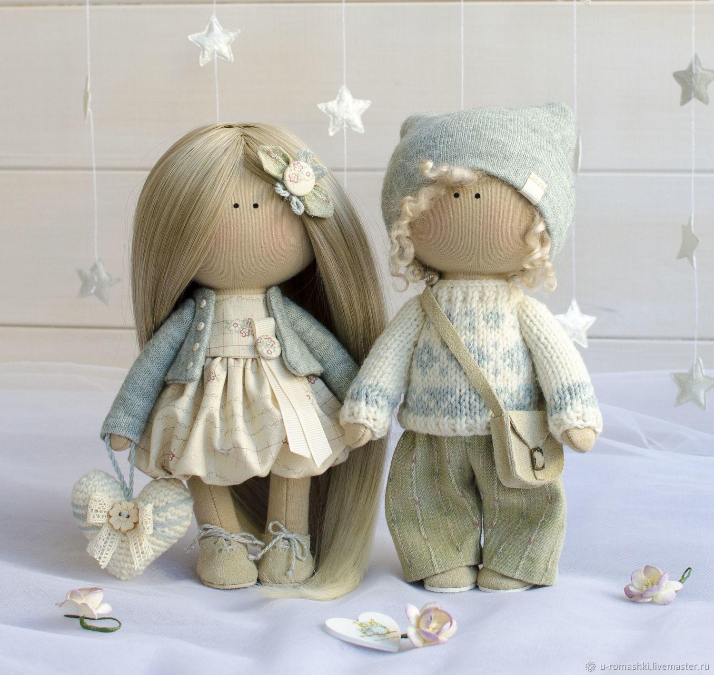 Сладкая парочка текстильные интерьерные куклы, Тыквоголовка, Санкт-Петербург,  Фото №1