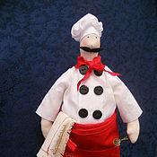 Куклы и игрушки ручной работы. Ярмарка Мастеров - ручная работа Повар Антонио (Тильда-повар). Handmade.