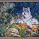 Пейзаж ручной работы. Ярмарка Мастеров - ручная работа. Купить волки. Handmade. Мозаика из стекла, панно на стену, стекло, мозаика