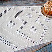 Для дома и интерьера handmade. Livemaster - original item embroidered Hardanger napkin, white napkin handmade. Handmade.