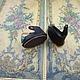 Одежда для кукол ручной работы. Заказать Крошечные кожаные туфельки для куклы, длина 22 мм. Григорий Корниенко. Ярмарка Мастеров.