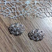 Материалы для творчества handmade. Livemaster - original item !Scrapbooking. Decor-the buckle,brooch with rhinestones, Crystal HEARTS. Handmade.