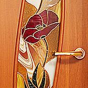 """Для дома и интерьера ручной работы. Ярмарка Мастеров - ручная работа Витраж """"Маки"""". Handmade."""