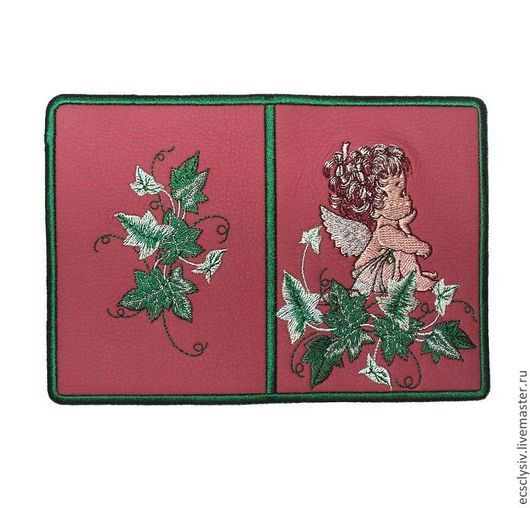 """Обложки ручной работы. Ярмарка Мастеров - ручная работа. Купить Обложка для паспорта """" Мечтающий ангел 2 """". Handmade."""