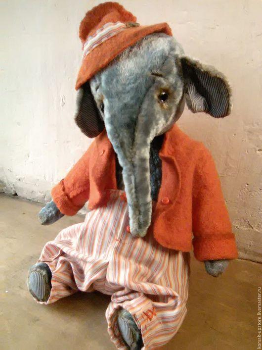 Мишки Тедди ручной работы. Ярмарка Мастеров - ручная работа. Купить Слон Энди. Handmade. Рыжий, тедди, винтажный плюш