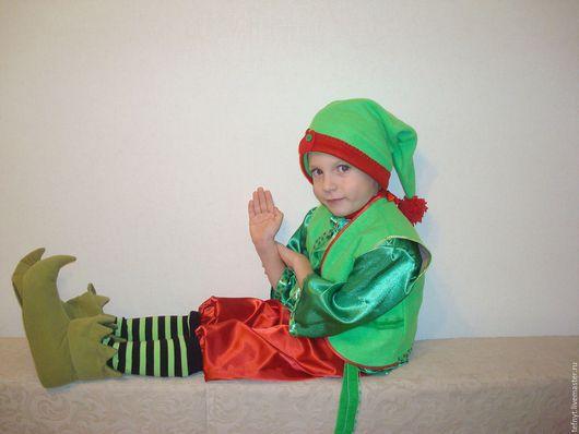 Детские карнавальные костюмы ручной работы. Ярмарка Мастеров - ручная работа. Купить Костюм Лесного гнома. Handmade. Тёмно-зелёный