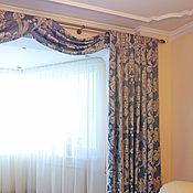 Для дома и интерьера handmade. Livemaster - original item Curtains for living room with Bay window. Handmade.