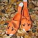 Обувь ручной работы. Ярмарка Мастеров - ручная работа. Купить Лисички-сестрички, тапочки войлочные. Handmade. Рыжий, тапочки, Валяние