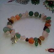 Bead bracelet handmade. Livemaster - original item Bracelet with natural stones gemstone talisman with talisman. Handmade.