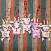 """Куклы и игрушки ручной работы. Ярмарка Мастеров - ручная работа Игрушка- подвеска """"Коза"""". Handmade."""