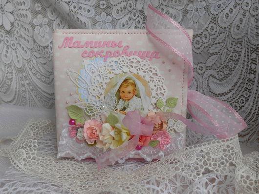 """Подарки для новорожденных, ручной работы. Ярмарка Мастеров - ручная работа. Купить шкатулка """"Мамины сокровища""""-ПРОДАНА. Handmade. Бледно-розовый"""