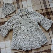 """Работы для детей, ручной работы. Ярмарка Мастеров - ручная работа Пальто вязаное """"Принцесса"""". Handmade."""