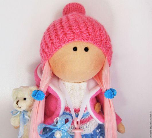 Коллекционные куклы ручной работы. Ярмарка Мастеров - ручная работа. Купить Куколка Варенька- малышка. Handmade. Розовый, куклы и игрушки