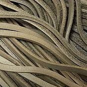 Материалы для творчества ручной работы. Ярмарка Мастеров - ручная работа Шнур кожаный 2х3 мм ,  бежевый. Handmade.