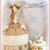 """Для дома и интерьера ручной работы. Ярмарка Мастеров - ручная работа Грелка на чайник Жираф """"Розали"""". Handmade."""