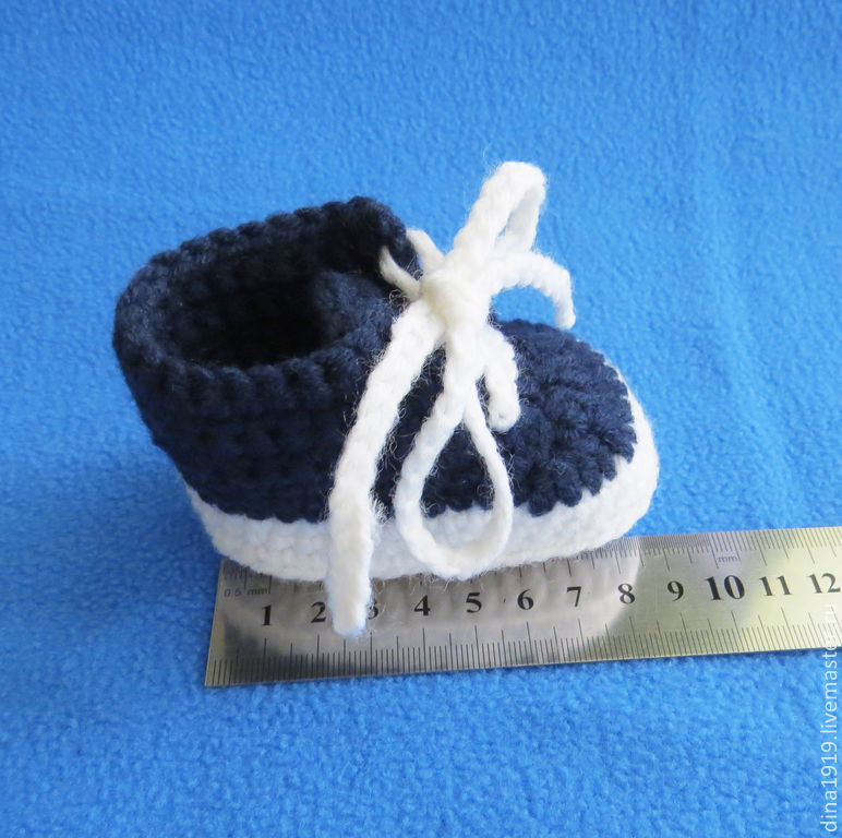 Booties For Newborn Baby Sneakers For Boy Blue White Shop Online