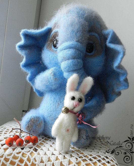 Игрушки животные, ручной работы. Ярмарка Мастеров - ручная работа. Купить Серо-голубой слоненок Даня. Handmade. Голубой, слон