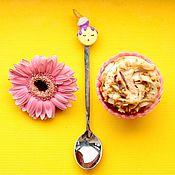 """Посуда ручной работы. Ярмарка Мастеров - ручная работа Ложка с декором """"Макарон"""". Handmade."""