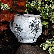 Посуда ручной работы. Ярмарка Мастеров - ручная работа Чашка керамическая раку 1. Handmade.