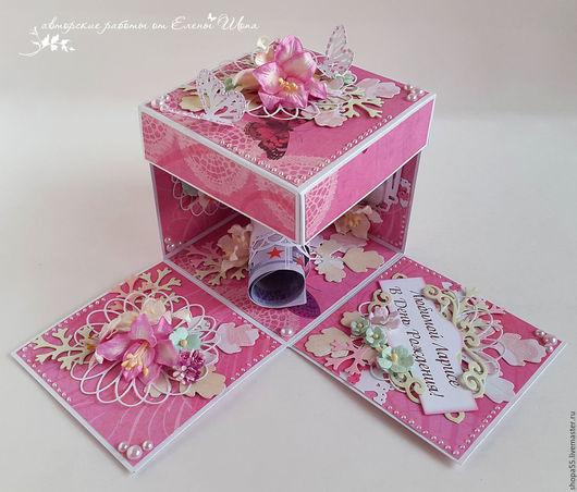 """Персональные подарки ручной работы. Ярмарка Мастеров - ручная работа. Купить Коробочка для денег  """"Розовые грезы"""" коробочка для подарка. Handmade."""