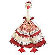 "Куклы и пупсы ручной работы. Ярмарка Мастеров - ручная работа Кукла-пакетница ""Гусыня"". Handmade."