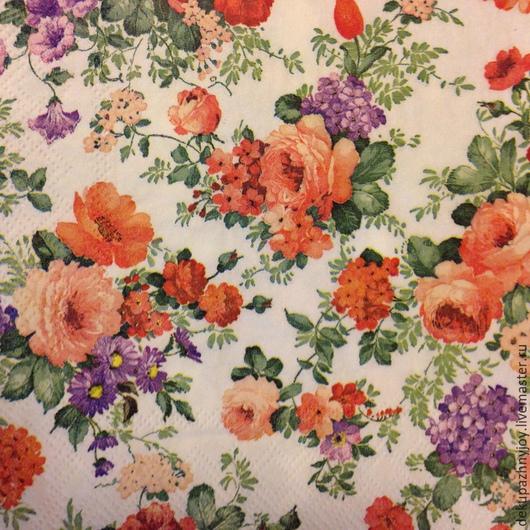 Нежные мелкие цветочки - салфетка для декупажа Декупажная радость