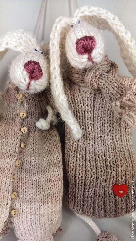 Подарки для влюбленных ручной работы. Ярмарка Мастеров - ручная работа. Купить Мартовские зайки. Handmade. Белый, авторский заяц