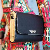 Сумка-планшет ручной работы. Ярмарка Мастеров - ручная работа Женская кожаная сумка MFW Black сумка-планшет. Handmade.