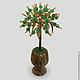 Дерево из нефрита в вазочке из оникса `Нефритовая любовь`