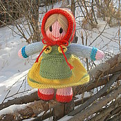 Куклы и игрушки ручной работы. Ярмарка Мастеров - ручная работа Вязаная кукла из шерсти Прасковья. Handmade.