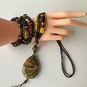 Украшения handmade. Livemaster - original item Decoration in the style boho. A set of jewelry from natural stones. Handmade.