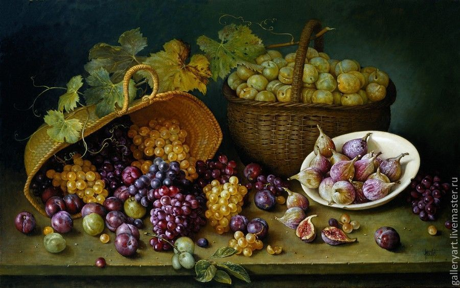 Painting ' still Life with figs', Pictures, St. Petersburg,  Фото №1