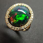 Украшения handmade. Livemaster - original item Ring: Kaleidoscope opal ring, gold, diamonds. Handmade.