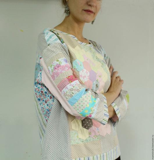 """Блузки ручной работы. Ярмарка Мастеров - ручная работа. Купить Блуза """"Воздушный рис"""" свитшот женский,пэчворк.. Handmade."""
