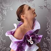"""Аксессуары ручной работы. Ярмарка Мастеров - ручная работа """"Орхидея""""  валяный шарф. Handmade."""